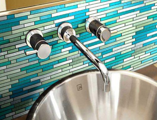 Mosaïque salle de bain et robinetterie à Cheval-Blanc